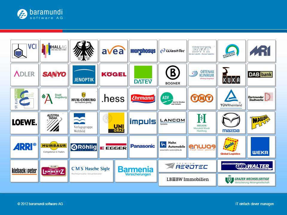© 2009 baramundi software AG IT einfach clever managen © 2012 baramundi software AG IT einfach clever managen Über 750 Kundenreferenzen aller Branchen