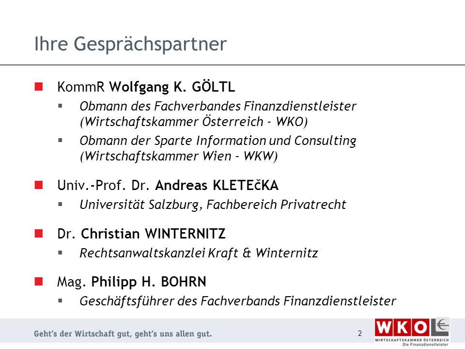 Ihre Gesprächspartner KommR Wolfgang K.