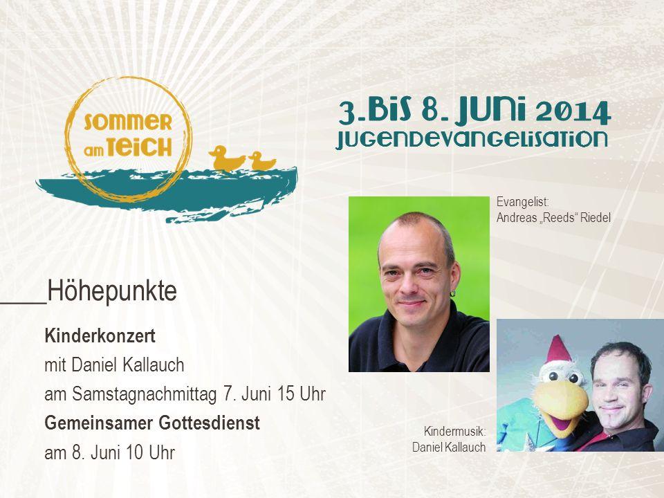 Kinderkonzert mit Daniel Kallauch am Samstagnachmittag 7.