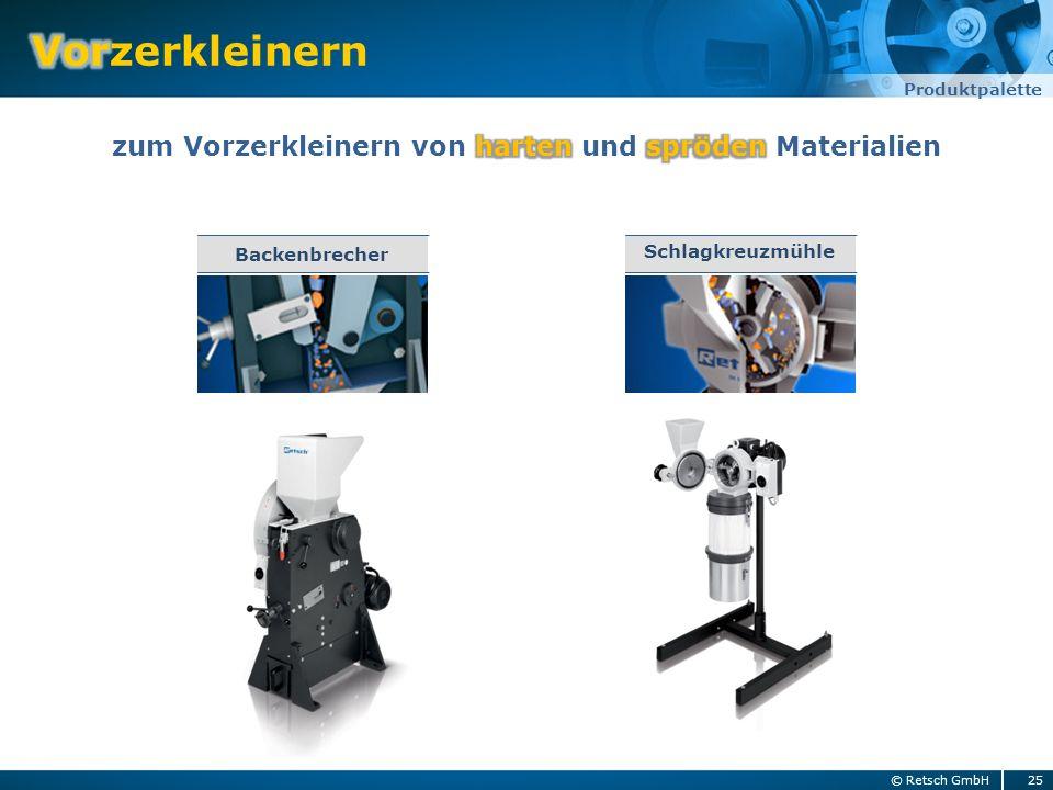 25© Retsch GmbH Produktpalette Backenbrecher Schlagkreuzmühle