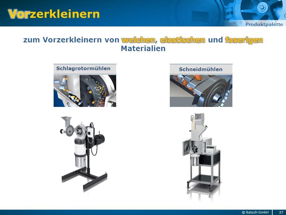 27© Retsch GmbH Produktpalette Schlagrotormühlen Schneidmühlen