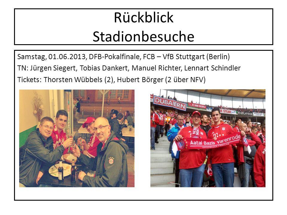 Rückblick Stadionbesuche Samstag, 01.06.2013, DFB-Pokalfinale, FCB – VfB Stuttgart (Berlin) TN: Jürgen Siegert, Tobias Dankert, Manuel Richter, Lennar