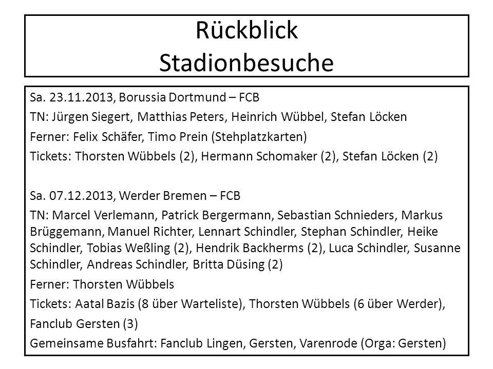 Rückblick Stadionbesuche Sa. 23.11.2013, Borussia Dortmund – FCB TN: Jürgen Siegert, Matthias Peters, Heinrich Wübbel, Stefan Löcken Ferner: Felix Sch