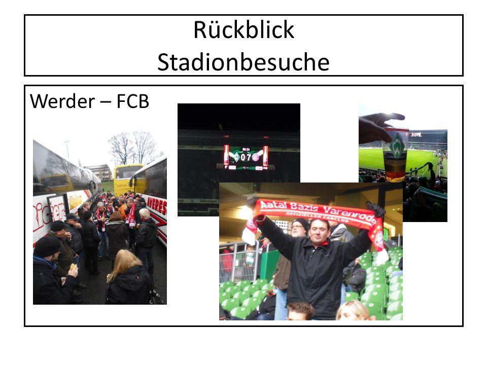 Rückblick Stadionbesuche Werder – FCB