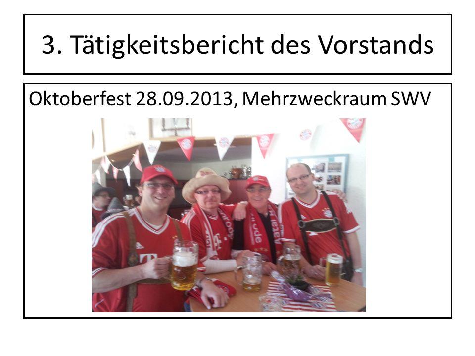 3. Tätigkeitsbericht des Vorstands Oktoberfest 28.09.2013, Mehrzweckraum SWV