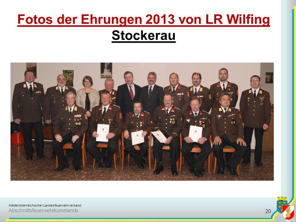 Niederösterreichischer Landesfeuerwehrverband Abschnittsfeuerwehrkommando Fotos der Ehrungen 2013 von LR Wilfing Stockerau 20