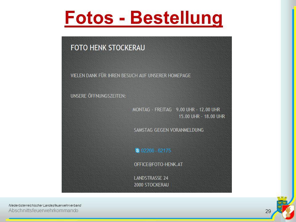 Niederösterreichischer Landesfeuerwehrverband Abschnittsfeuerwehrkommando Fotos - Bestellung 29