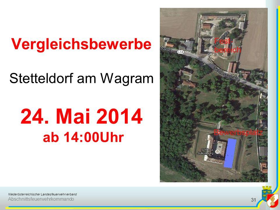 Niederösterreichischer Landesfeuerwehrverband Abschnittsfeuerwehrkommando Vergleichsbewerbe Stetteldorf am Wagram 24. Mai 2014 ab 14:00Uhr 31