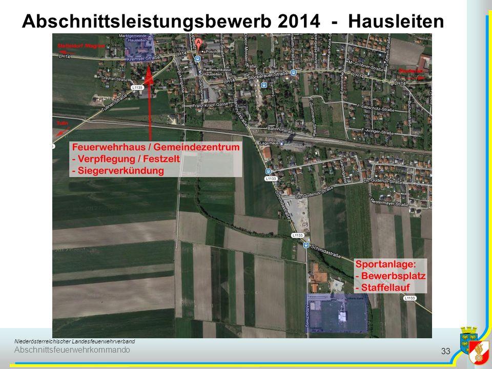 Niederösterreichischer Landesfeuerwehrverband Abschnittsfeuerwehrkommando Abschnittsleistungsbewerb 2014 - Hausleiten 33