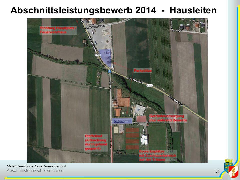 Niederösterreichischer Landesfeuerwehrverband Abschnittsfeuerwehrkommando Abschnittsleistungsbewerb 2014 - Hausleiten 34