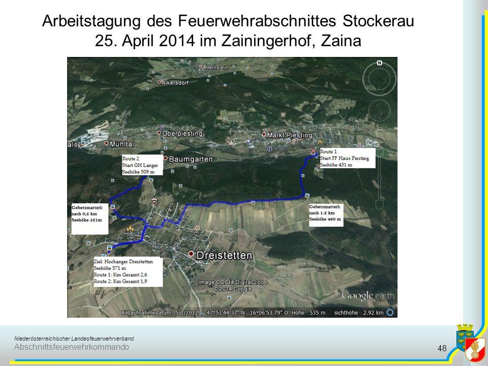 Niederösterreichischer Landesfeuerwehrverband Abschnittsfeuerwehrkommando Arbeitstagung des Feuerwehrabschnittes Stockerau 25.