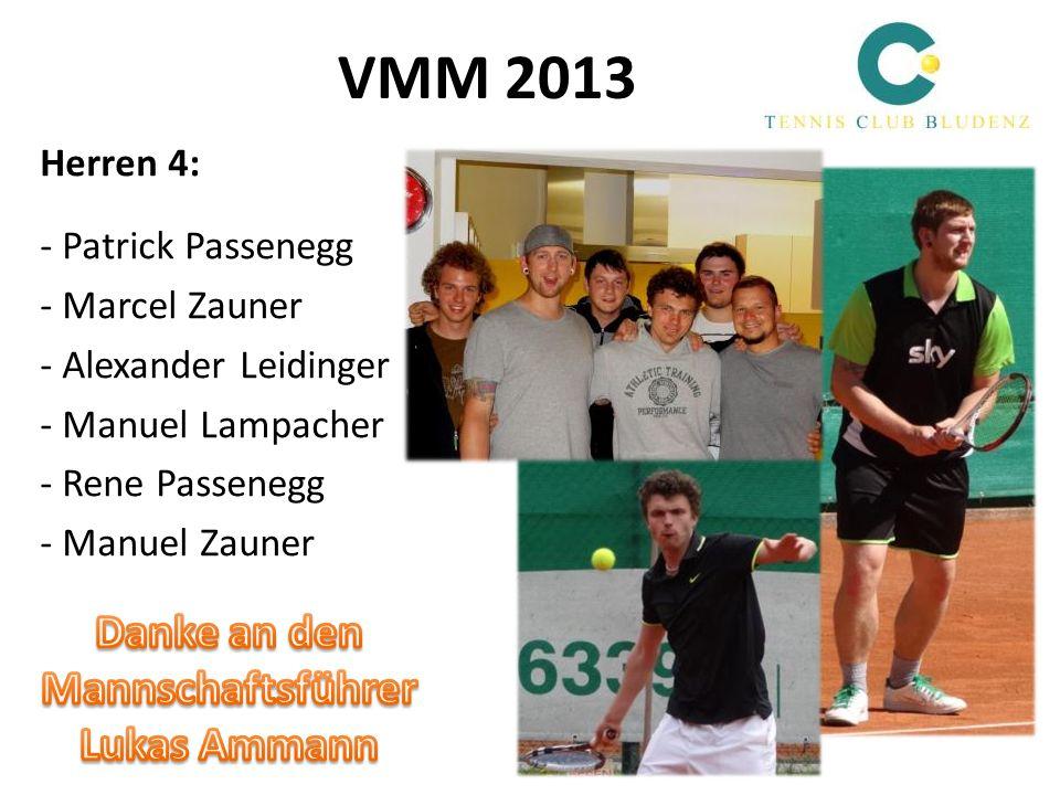 VMM 2013 Herren 4: - Patrick Passenegg - Marcel Zauner - Alexander Leidinger - Manuel Lampacher - Rene Passenegg - Manuel Zauner