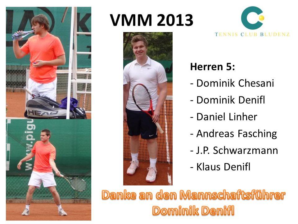 VMM 2013 Herren 5: - Dominik Chesani - Dominik Denifl - Daniel Linher - Andreas Fasching - J.P. Schwarzmann - Klaus Denifl
