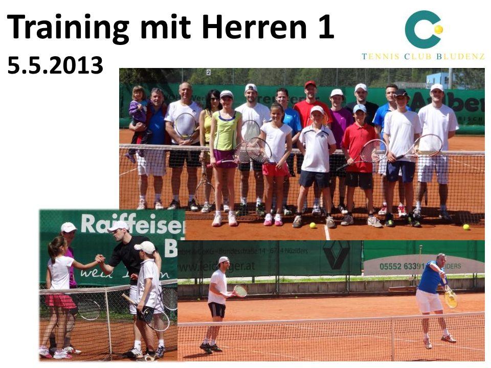 Training mit Herren 1 5.5.2013