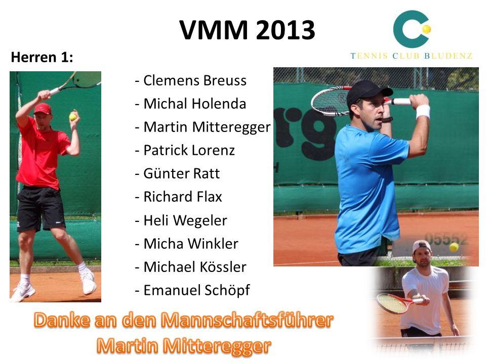 VMM 2013 Herren 1: - Clemens Breuss - Michal Holenda - Martin Mitteregger - Patrick Lorenz - Günter Ratt - Richard Flax - Heli Wegeler - Micha Winkler
