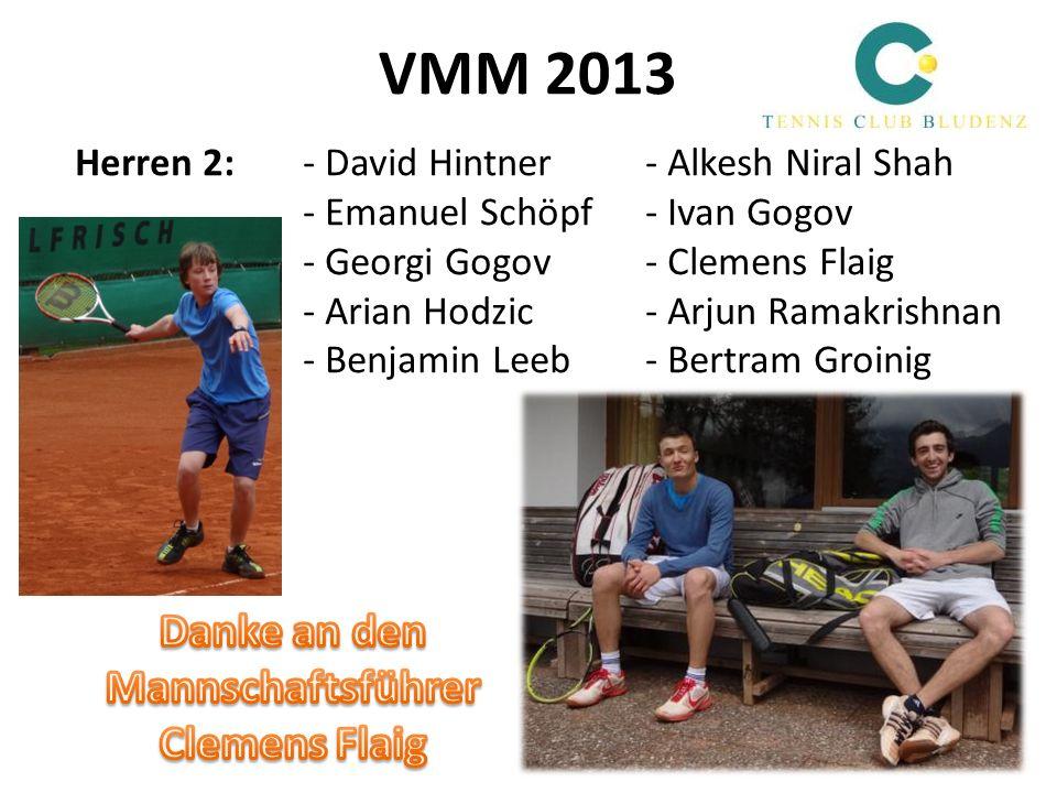 VMM 2013 Herren 2:- David Hintner - Alkesh Niral Shah - Emanuel Schöpf - Ivan Gogov - Georgi Gogov - Clemens Flaig - Arian Hodzic- Arjun Ramakrishnan