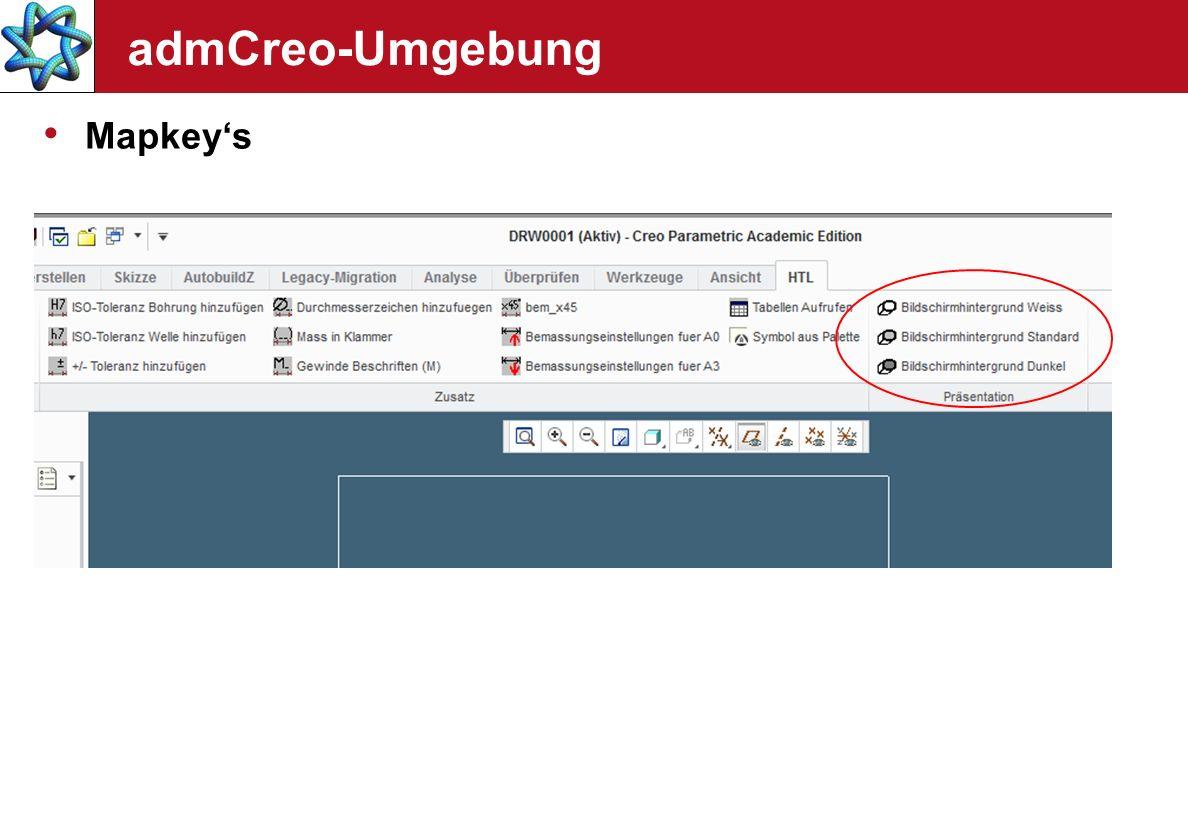 admCreo-Umgebung Mapkeys