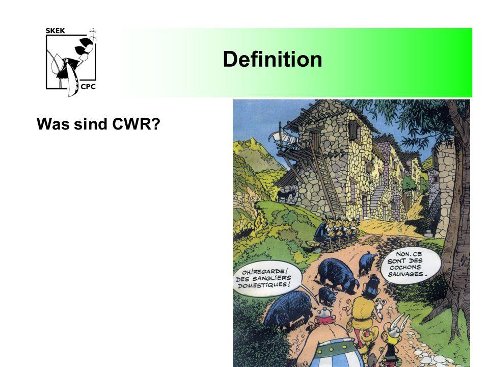 Definition Mit Kulturpflanzen verwandte Wildarten (Crop wild relatives – CWR) können als Wildarten definiert werden, welche den Kulturpflanzen mehr oder weniger nahe stehen und mit letzteren Gene austauschen können.