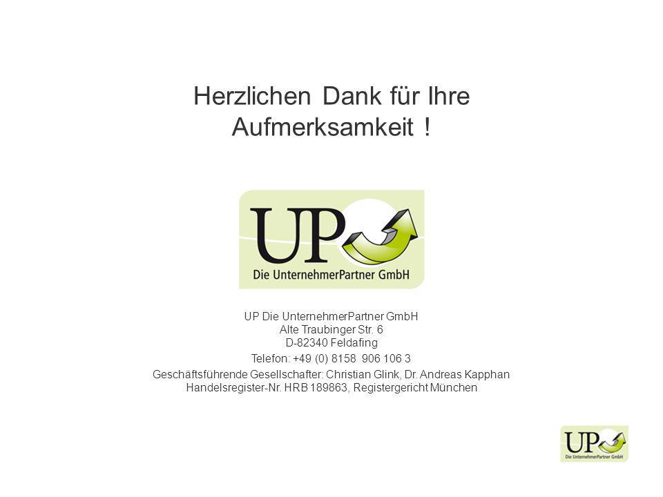 UP Die UnternehmerPartner GmbH Alte Traubinger Str.
