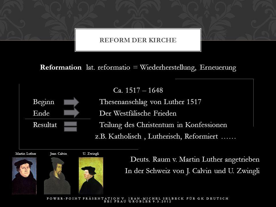 1.Historischer Hintergrund GLIEDERUNG POWER-POINT PRÄSENTATION V.