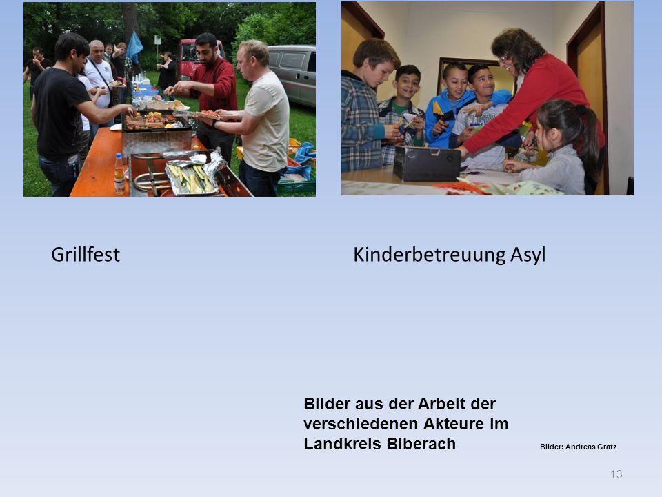 Grillfest Kinderbetreuung Asyl 13 Bilder aus der Arbeit der verschiedenen Akteure im Landkreis Biberach Bilder: Andreas Gratz