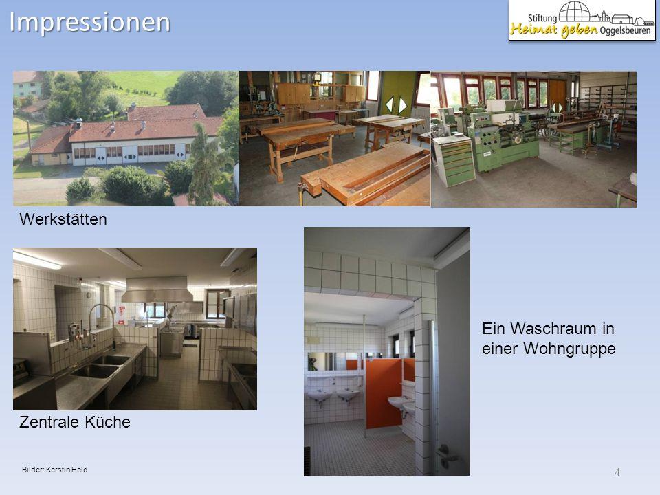 Impressionen 4 Werkstätten Zentrale Küche Ein Waschraum in einer Wohngruppe