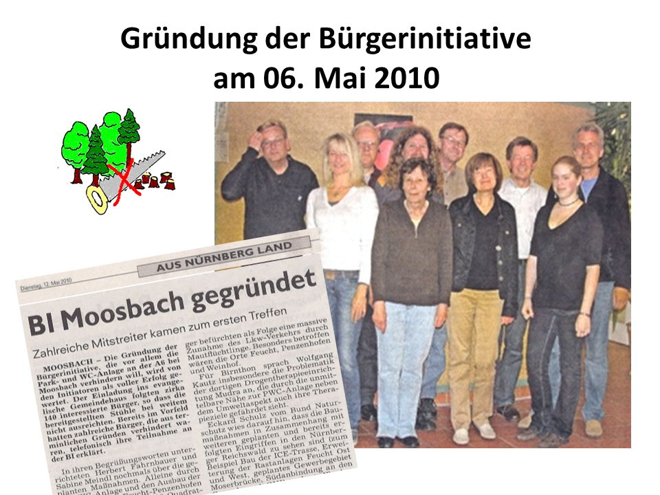 Mai 2011 BI spricht bei der Regierung von Mittelfranken vor Sprecher der BI - unterstützt von MdL Angelika Weikert (SPD) und Markus Ganserer (Grüne) - im Gespräch mit Regierungspräsident Dr.