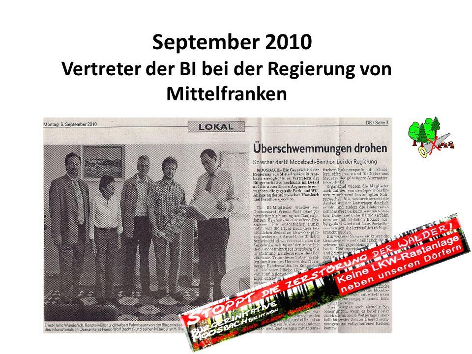 September 2010 Vertreter der BI bei der Regierung von Mittelfranken