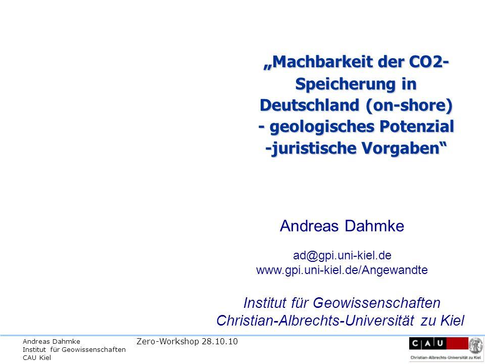Andreas Dahmke Institut für Geowissenschaften CAU Kiel Zero-Workshop 28.10.10 Zhang et al., 2004