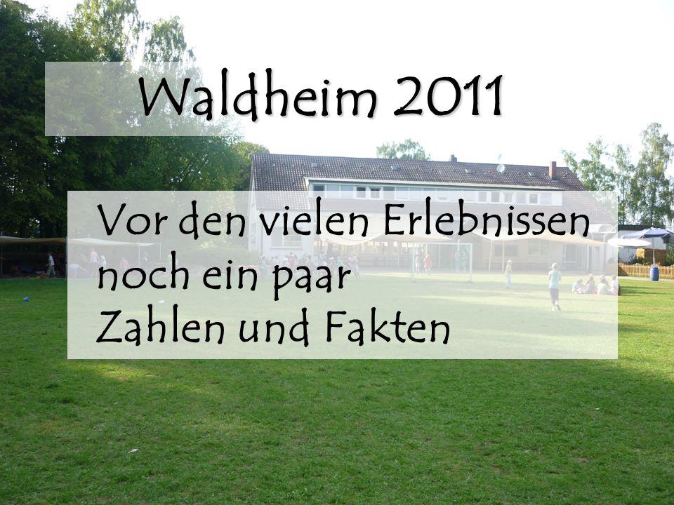 Waldheim 2011 Vor den vielen Erlebnissen noch ein paar Zahlen und Fakten