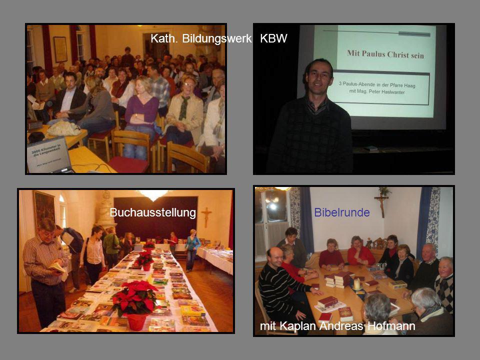 Kath. Bildungswerk KBW BuchausstellungBibelrunde mit Kaplan Andreas Hofmann