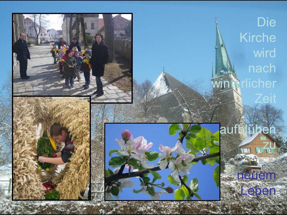 Die Kirche wird nach winterlicher Zeit aufblühen zu neuem Leben