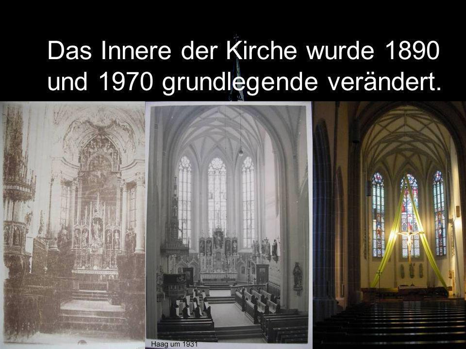 Das Innere der Kirche wurde 1890 und 1970 grundlegende verändert.