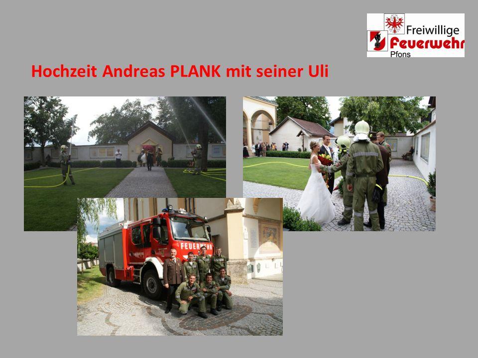 Hochzeit Andreas PLANK mit seiner Uli