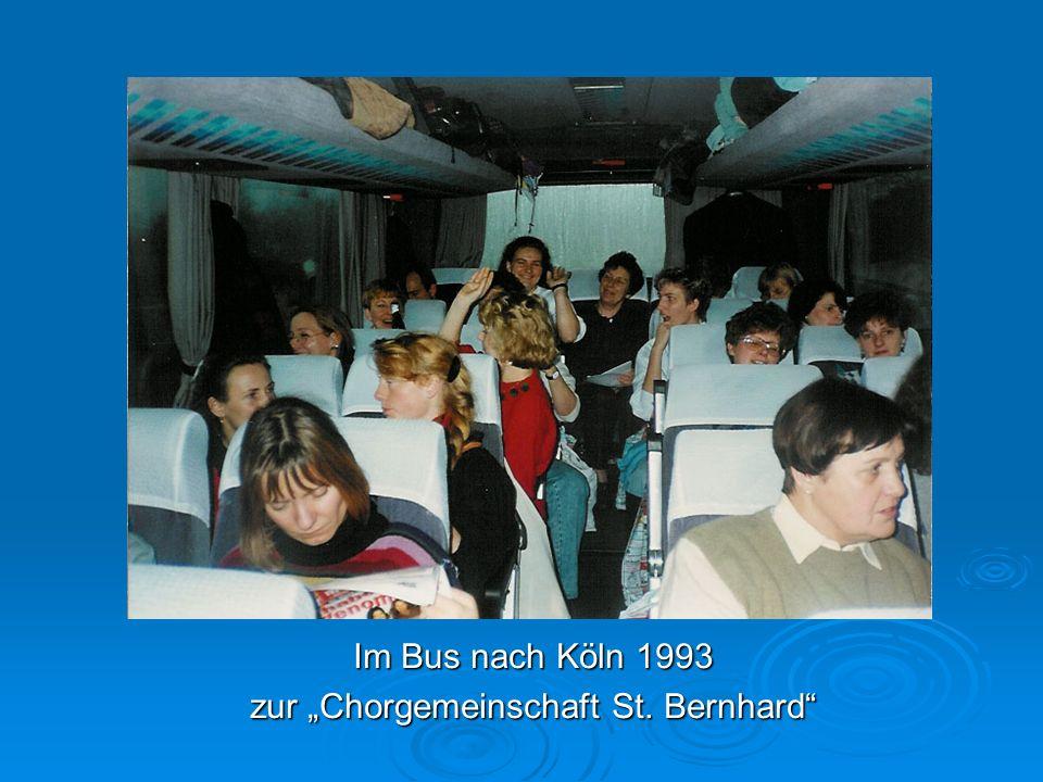 Im Bus nach Köln 1993 zur Chorgemeinschaft St. Bernhard