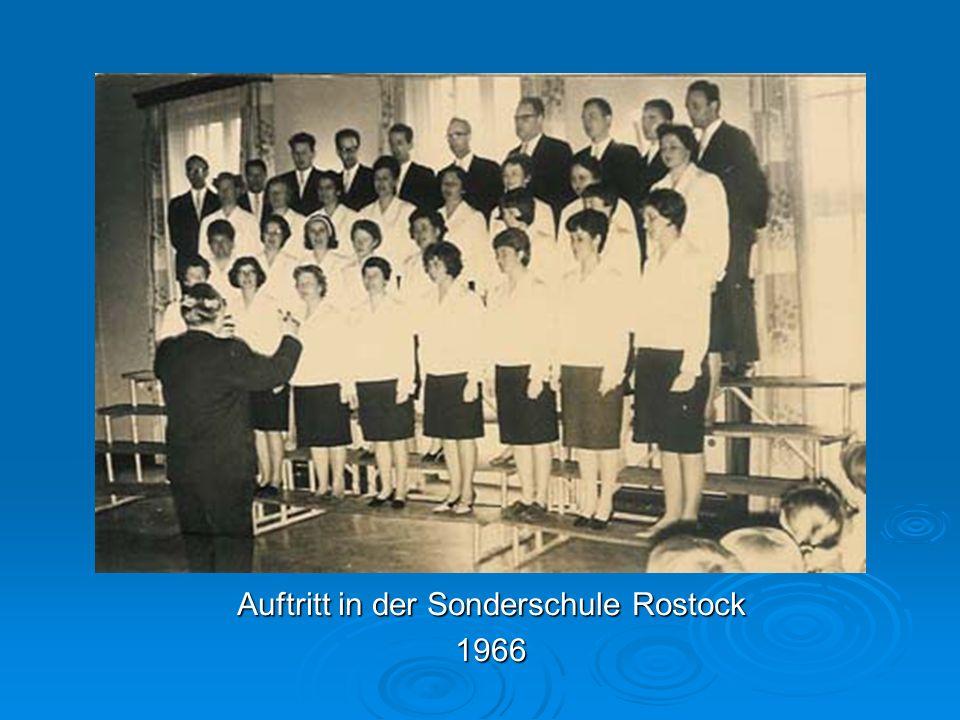 Auftritt in der Sonderschule Rostock 1966