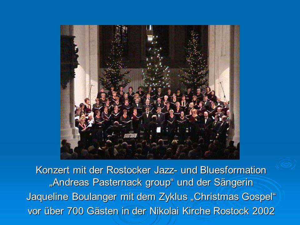Konzert mit der Rostocker Jazz- und Bluesformation Andreas Pasternack group und der Sängerin Jaqueline Boulanger mit dem Zyklus Christmas Gospel vor ü