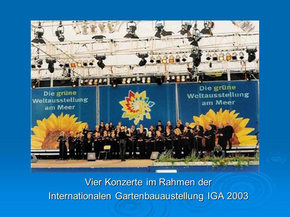 Vier Konzerte im Rahmen der Internationalen Gartenbauaustellung IGA 2003