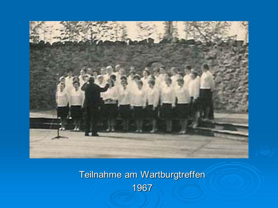 Teilnahme am Wartburgtreffen 1967