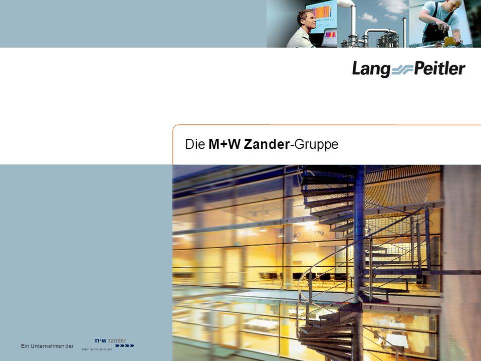 Anzahl der Mitarbeiter der M+W Zander-Gruppe: 3.700 - Gesamtumsatz ca.