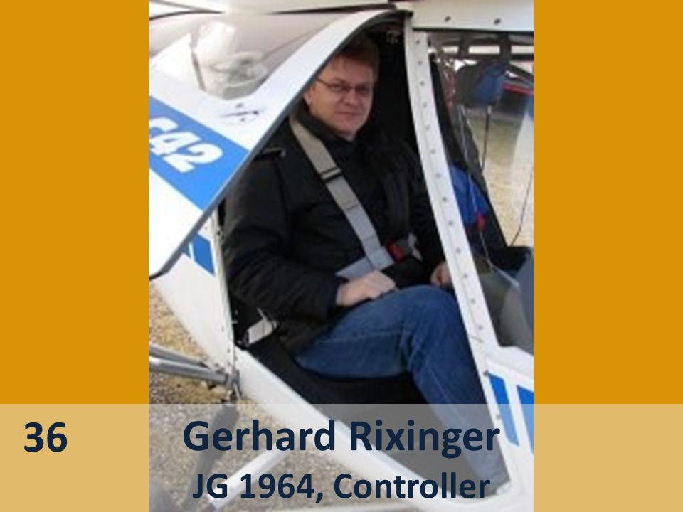 Gerhard Rixinger JG 1964, Controller 36