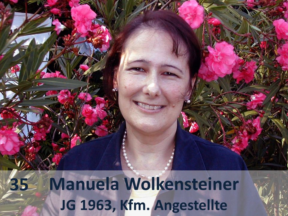 Manuela Wolkensteiner JG 1963, Kfm. Angestellte 35