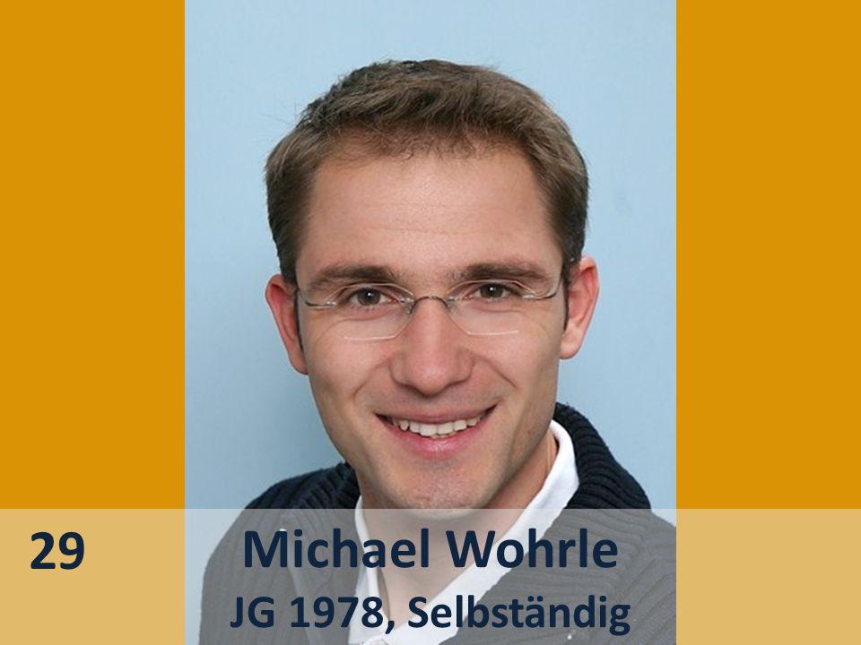 Michael Wohrle JG 1978, Selbständig 29