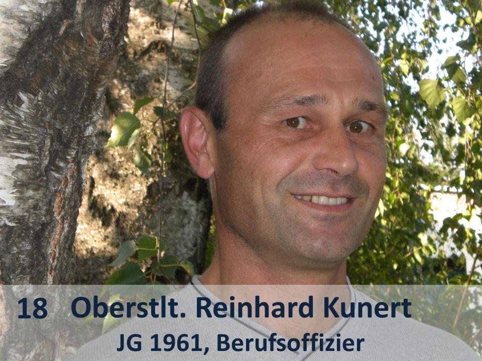 Oberstlt. Reinhard Kunert JG 1961, Berufsoffizier 18