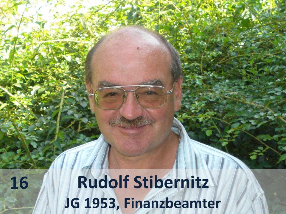Rudolf Stibernitz JG 1953, Finanzbeamter 16