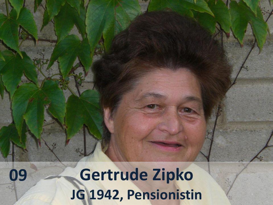 Gertrude Zipko JG 1942, Pensionistin 09