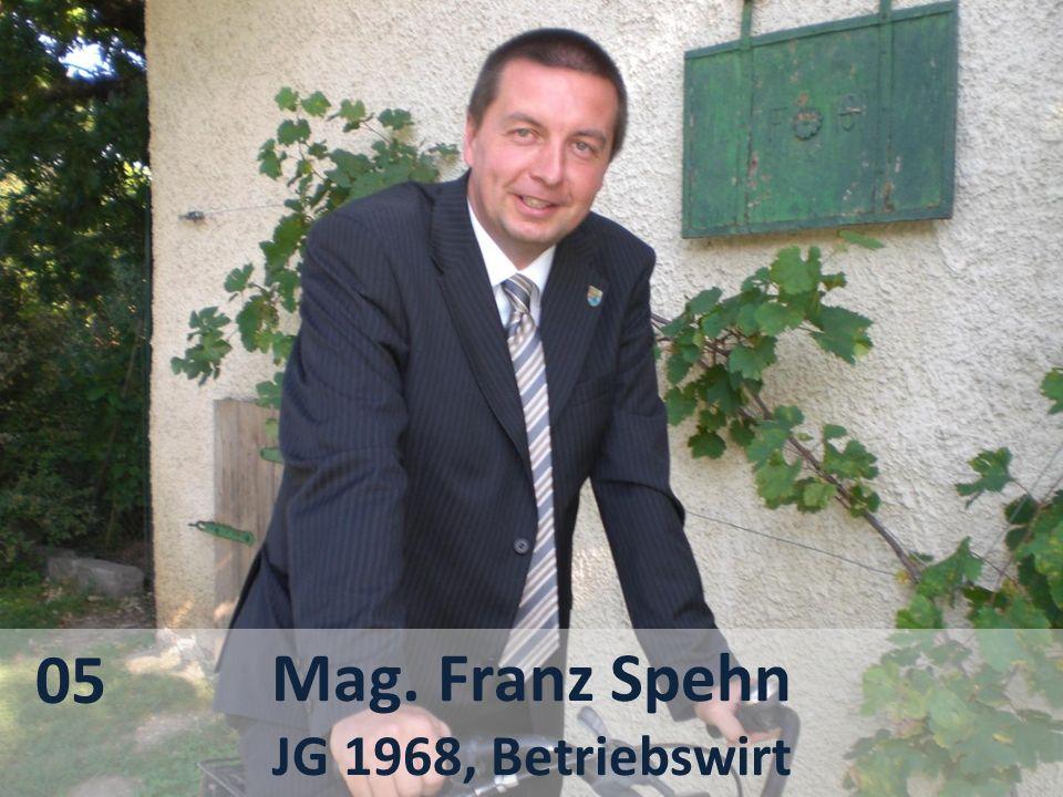 Mag. Franz Spehn JG 1968, Betriebswirt 05