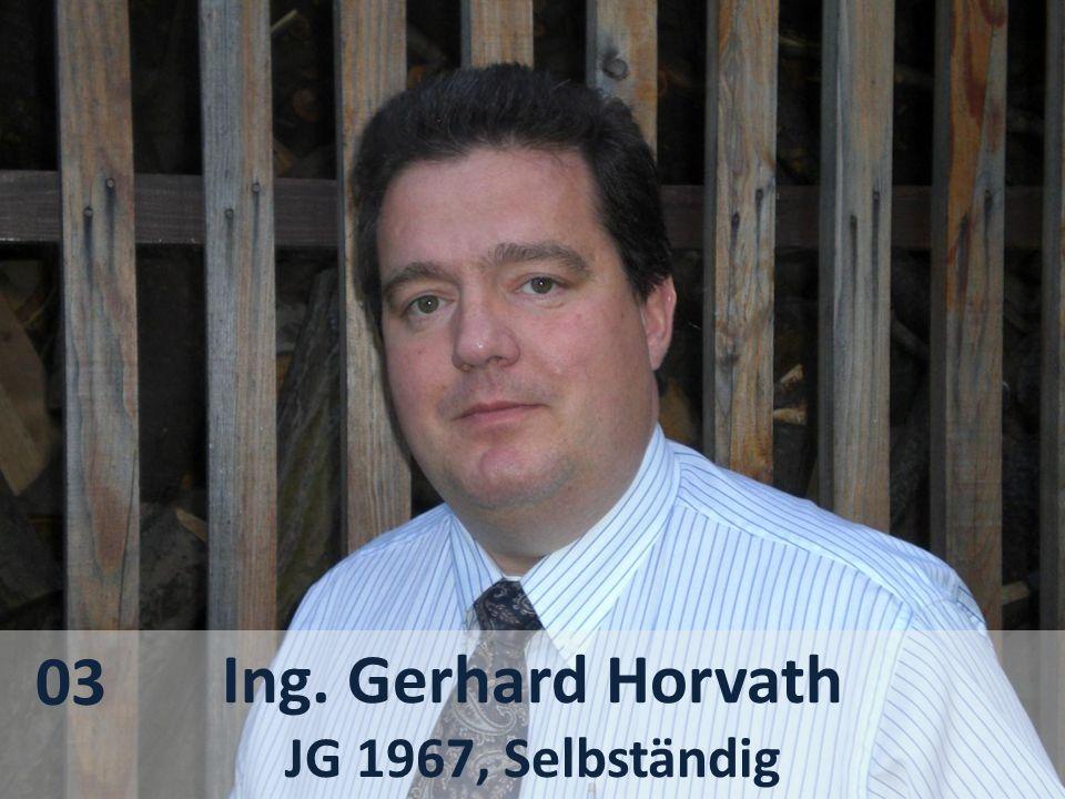 Ing. Gerhard Horvath JG 1967, Selbständig 03
