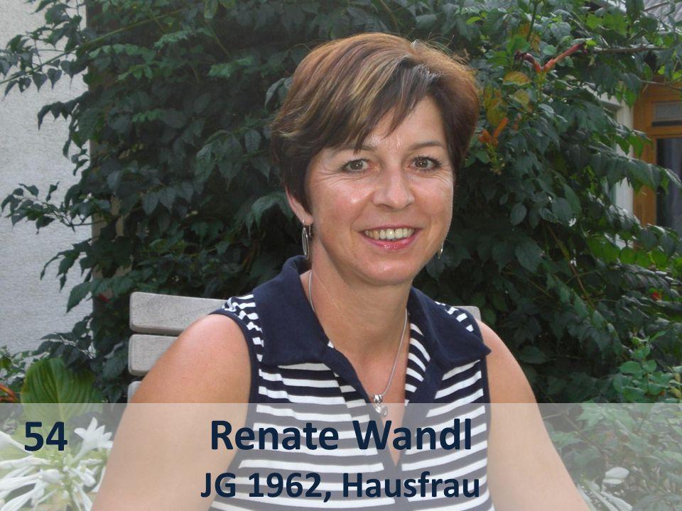 Renate Wandl JG 1962, Hausfrau 54