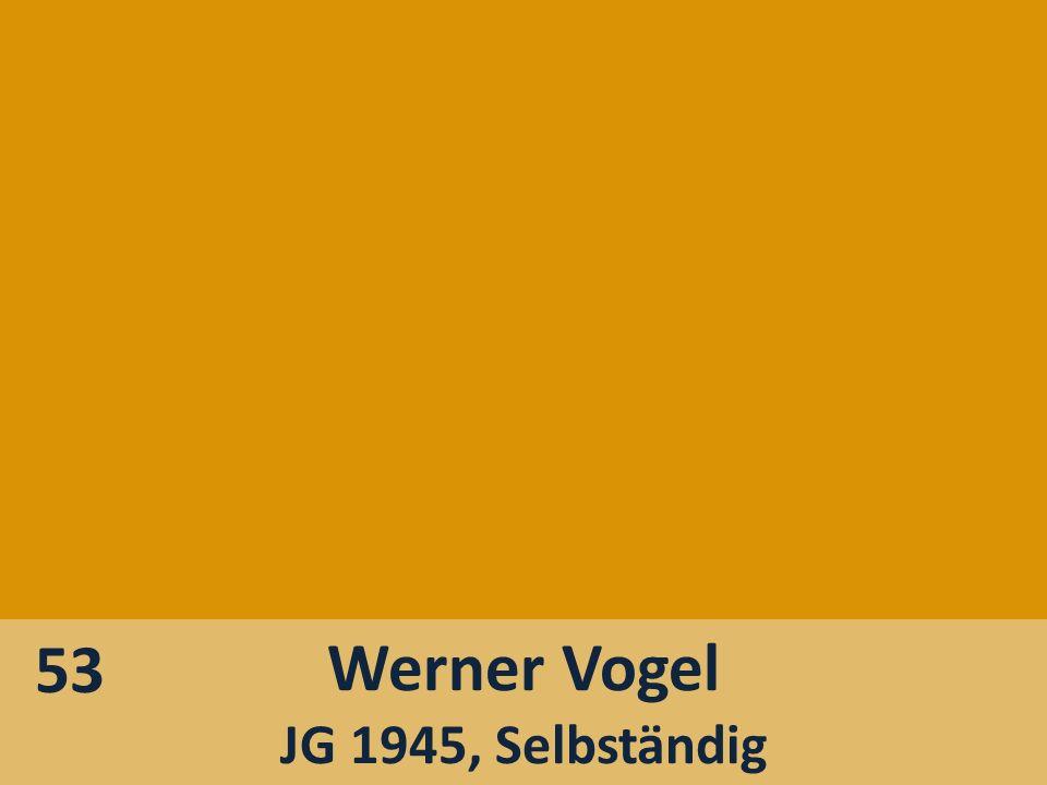 Werner Vogel JG 1945, Selbständig 53